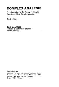 Ahlfors complex analysis 3rd__ edition