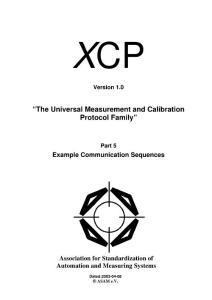 XCP -Part 5- Example Communication Sequences -1.0