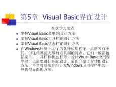 精品第5章 Visual Basic界面设计