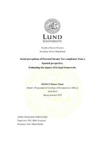 Social perceptions of Personal Income Tax compliance from a...