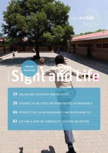 FRONTIERS Sight and ef Li IN NUTRITION