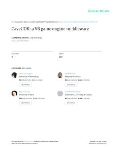 CaveUDK A VR Game Engine Middleware - ResearchGate