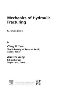 Mechanics of Hydraulic Fracturing  Second Edition-[2]-[Ching H Yew  Xiaowei Weng]