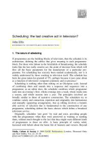 Scheduling the last creative act in television - rciribir