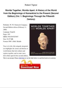 worlds together  worlds apart a history of the world from the