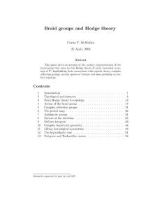 braid groups and hodge theory:辫子群与霍吉理论
