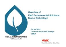 Overview of FMC Environmental Solutions Klozur  Tecnology
