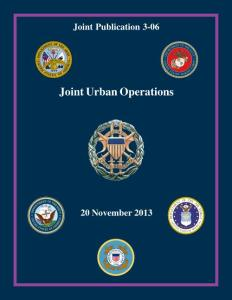 jp 3-06  joint urban operations