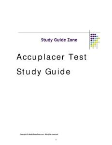 Accuplacer Test Study Guide - Central Washington ...