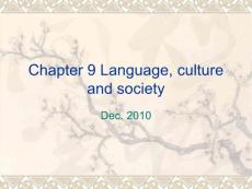 chapter 9 language_ culture and__ society