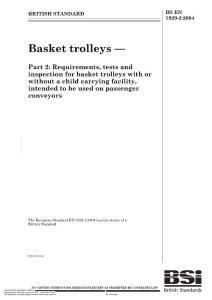 basket trolley standard