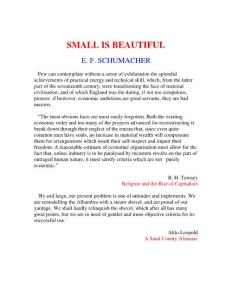 Small Is Beautiful_ Economics as if People Mattered