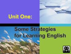 some strategies for learning english