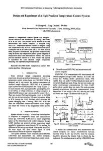 Design and Experiment of A HighPrecision Temperature Control System