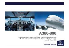 Airbus A380 800 Flight Deck and Systems Briefing for Pilots