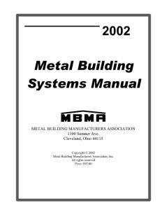 美国MBMA钢结构设计手册Metal Building Systems Manual 2002