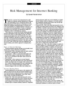 Risk Management for Internet Banking