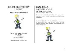 BELIZE ELECTRICITY CALL US AT LIMITED 0-800-BEL …