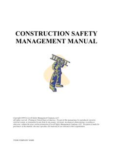 CONSTRUCTION SAFETY MANAGEMENT MANUAL