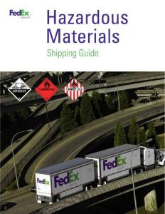 Hazardous Materials Shipping Guide - FedEx