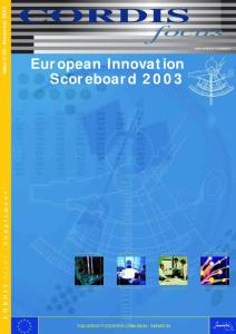 European Innovation Scoreboard 2003