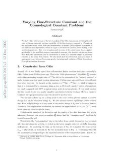 varying fine-structure c..