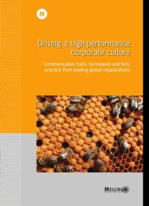 Driving a high-performance corporate culture驾驶高性能的