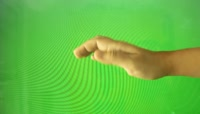 Hand gestures\- wave, playing keyboard on green screen绿布抠像素材