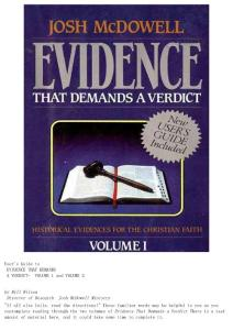 Evidence That Demands a Verdict - Josh McDowell
