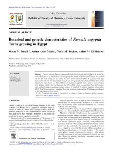 Botanical and genetic ch..