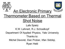 An Electronic Primary Thermometer Based on Quantum Shot noise...
