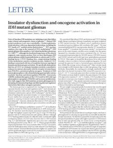 nature16490-Insulator dysfunction and oncogene activation in IDH mutant gliomas