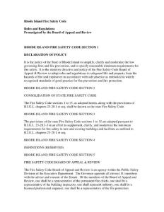 Rhode Island Fire Safety Code Rules and Regulations ...(PDF-139)