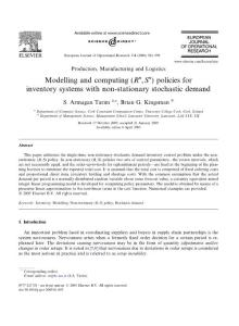 Modelling and computing (Rn  Sn) policies for inventory systems with non-stationary stochastic demand