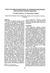 Effect of plasma glucose control by continuous subcutaneous insulin infusion on nerve conduction