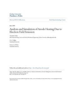Analysis and Simulation of Anode Heating Due to Electron Field...