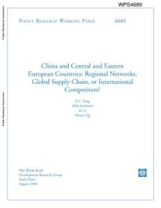 China and Central and Eastern European Countries Regional...
