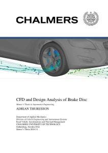 CFD and Design Analysis of Brake Disc
