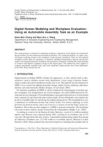 digital human modeling and workplace evaluation using an automobile assembly task as an example
