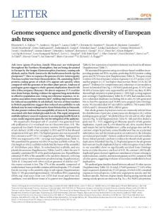 nature20786-Genome sequence and genetic diversity of European ash trees