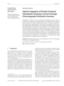 optimal integration of directly combined hydrophobic interaction and ion exchange chromatography purification processes