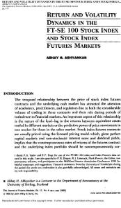RETURN AND VOLATILITY DYNAMICS IN THE FT-SE-100 STOCK INDEX AND STOCK INDEX FUTURES MARKETS 1995
