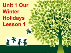 Unit 1 Our Winter Holidays Lesson 1 课件 2