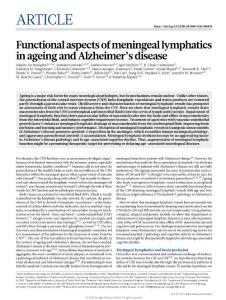 nature.2018-Functional aspects of meningeal lymphatics in ageing and Alzheimer's disease-article