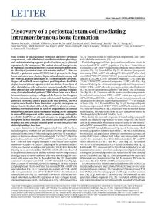 nature.2018-Discovery of a periosteal stem cell mediating intramembranous bone formation