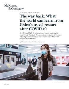 The way back What the world can learn from Chinas travel restart after COVID-19