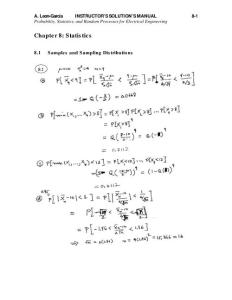 probability statistics random processes for EE解答