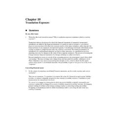 fundamentals of multinational finance moffett--chapter 10 answer