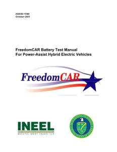 FreedomCAR Battery Test Manual
