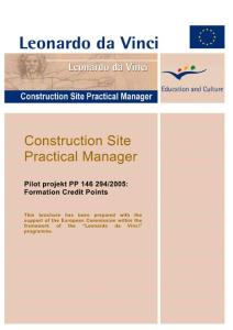 Construction Site Practical Manager